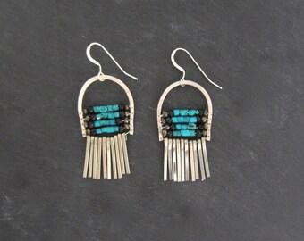 Silver Floating World Earrings