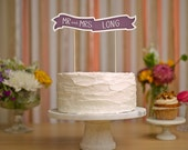 Custom Cake Banner No. 1 - Wedding Cake Topper