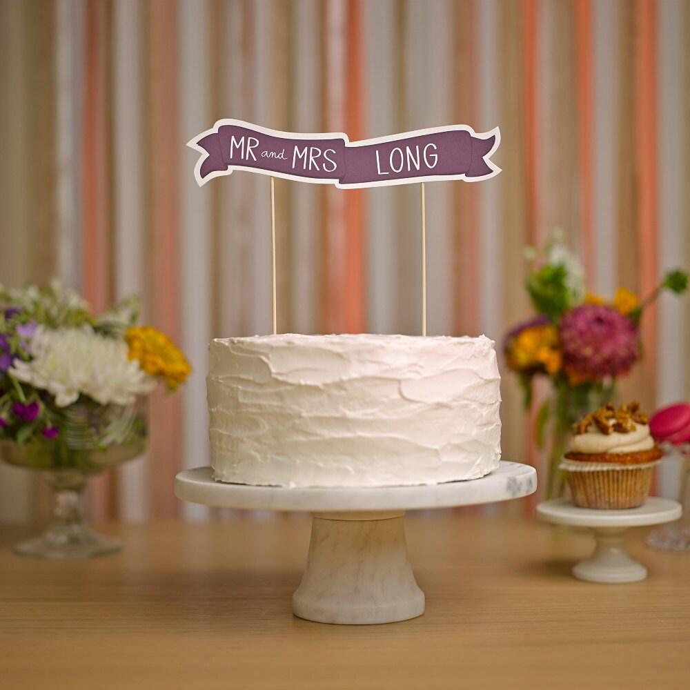 custom cake banner no 1 wedding cake topper