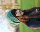 Slouchy Beanie, Womens Slouchy Hat, Mens Slouchy Beanie, Hand Knit Hat, Fall Fashion,Winter Accessories, Fern
