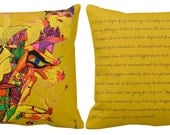 DESIGNER, PILLOW, Art, DECORATIVE, Whimsical Collection of Myles Marsden, Digital Designs,from Original Drawings,Inspirational Quotes, Fun