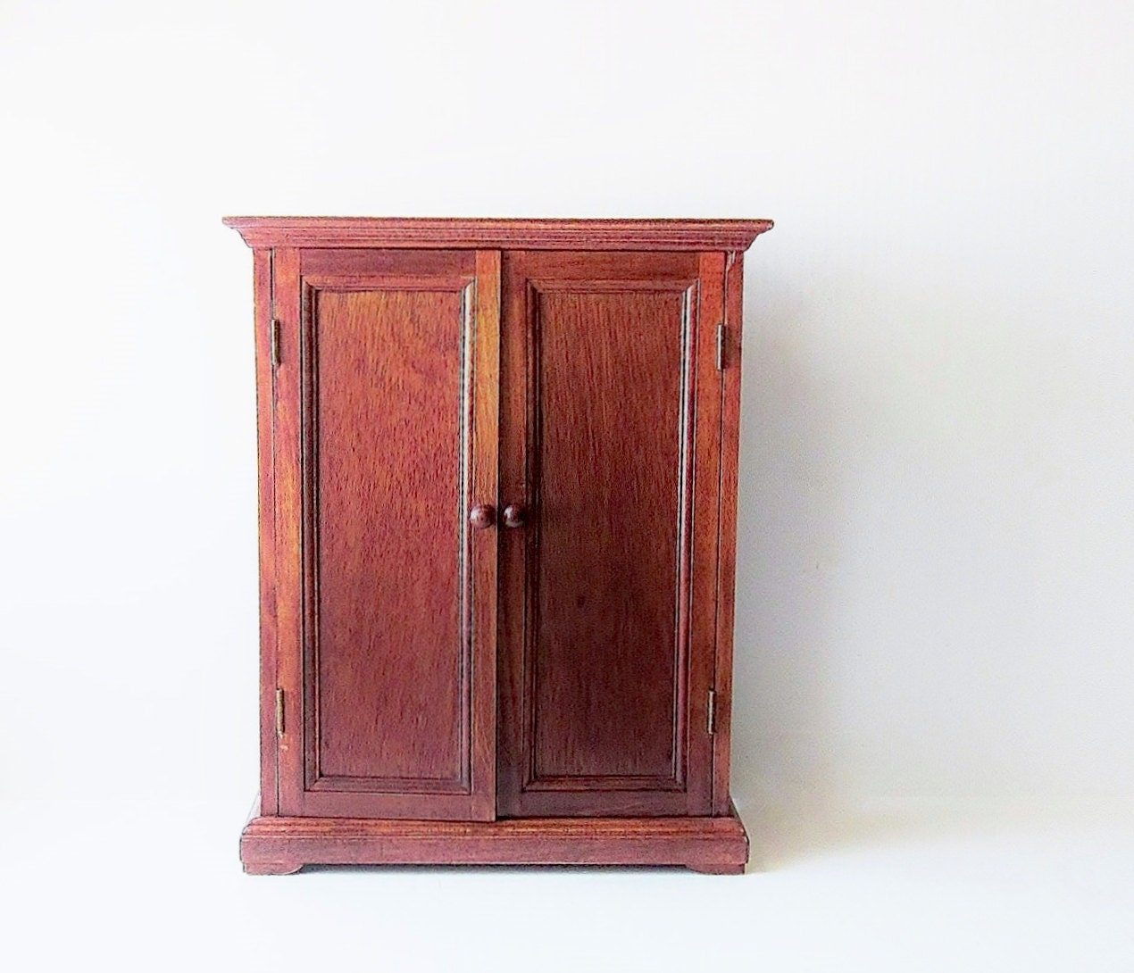 Vintage wood doll armoire wardrobe american heirloom