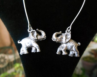 Elephant earrings, vintage