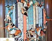 Farmhouse Rooster Mesh Wreath