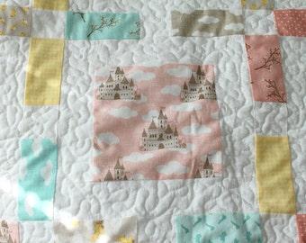 Fairy Tale Quilt, Girls Twin Lap Quilt