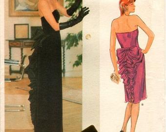 UNCUT BELLVILLE SASSOON Designer Original Vogue Pattern 1275 - Misses Close-Fitting Dress - Size 16
