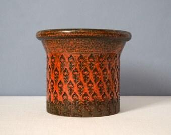 Mid Century Bitossi Double Key Decor Covered Jar