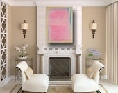 Fine Art Painting, Pink Painting, Large Mixed Media, Abstract on Canvas, Pink Abstract Art, for Girls, Wall Art for Girls, by Cheryl Wasilow