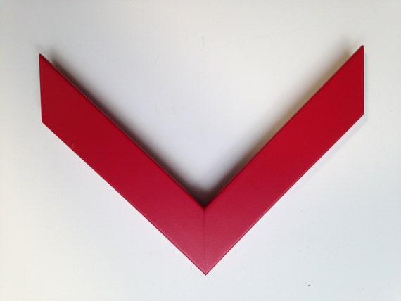 Custom Frame Red Wood For Any Size Artwork From Livuska