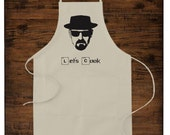Let's Cook Apron. Breaking Bad Apron. Walter White Apron. Cooking Apron