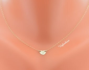 delicate necklace, personalized necklace, monogram necklace, heart necklace, name necklace, personalized necklace, heart pendant, dainty