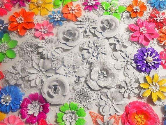 15 Enamel Flower Brooch DIY Kit Wedding Bridal Bouquet
