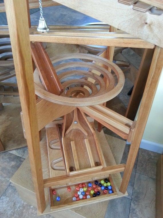 Wooden Marble Pyramid Run Tower Maze Machine Glass Ball