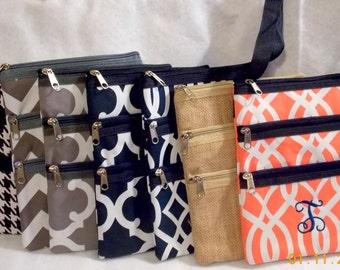 Monogrammed Bag  Monogrammed Messenger Bag  Crossbody Bag