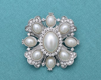 Vintage Pearl Brooch DIY Wedding Brooch Bouquet Supply Sash Pin Wedding Jewelry Bridal Brooch