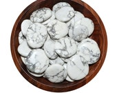 """1 XL WHITE HOWLITE Palm Polished Pocket Tumbled Stone (1.5"""" - 1.6"""") Healing Crystal and Stone Jewelry & Crafts #JN03"""