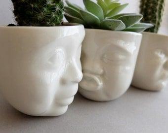 Head plantercute succulent planterplant gift setmodern