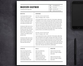resume template and cover letter template professional design cv download custom word doc - Modern Cover Letter Template