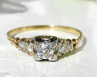 Vintage 1940 engagement ring Etsy