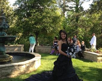 Alternative Black Wedding Dress for Gothic or Halloween Theme