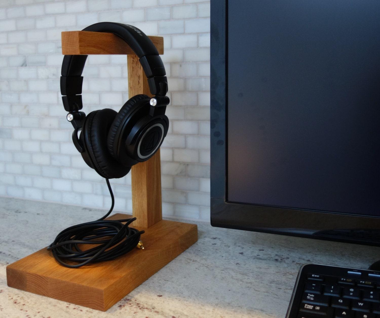 Wood headphone stand the classic headphone holder - Wooden headphone holder ...