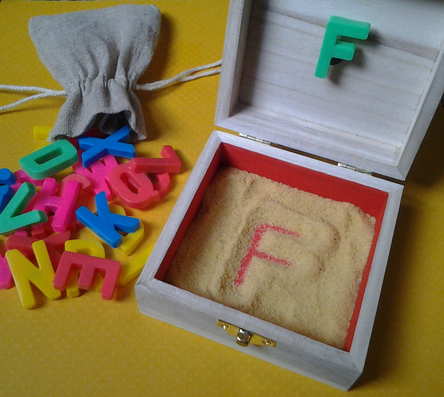 box letter alphabet portable letter formation sand box 20672 | il fullxfull.671048693 amfr