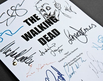 The Walking Dead TV Script with Signatures/Autographs Reprint