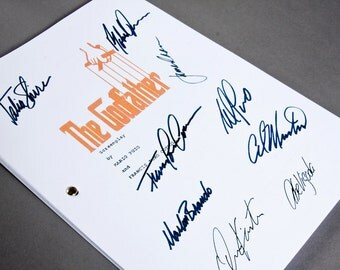 The Godfather Film Movie Script with Signatures/Autographs Reprint Mafia