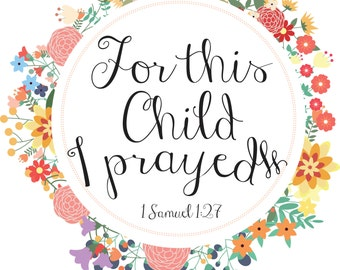 1 Samuel 1:27 Nursery Art