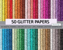 "SALE!!! 50 Glitter Digital Papers Background Pattern 8,5x11"", 300dpi - INSTANT DOWNLOAD #Paper 84"