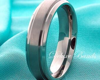 Titanium Wedding Band Mens Titanium Ring 6mm Titanium Band Titanium Anniversary Titanium  Promise Ring Men Titanium Ring Women Comfort Fit i