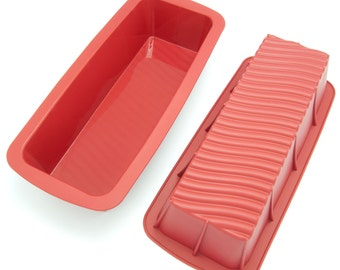 Freshware CB-103RD 11-inch Pure Silicone Loaf Pan, BPA Free - 1 Piece