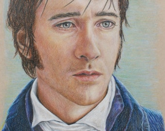 Mr. Darcy / Matthew MacFadyen Print of colored pencil drawing