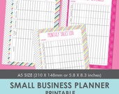Small Business or Etsy Business Planner Printable A5