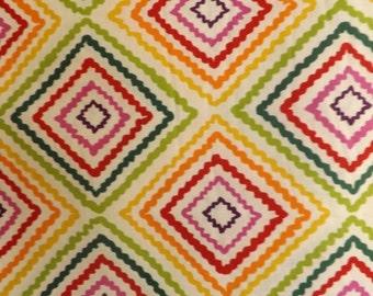 Alexander Henry Diamond Zig Zag Cotton Fabric BTY