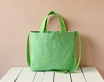 Wander in canvas bag - Apple Green / Strawberry Pink