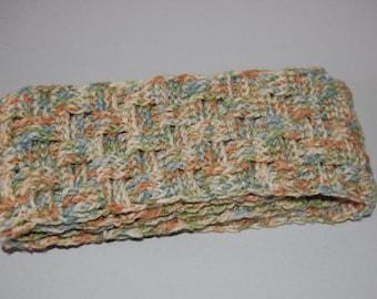 Winter Sea Basket Weave Scarf - Ready to ship