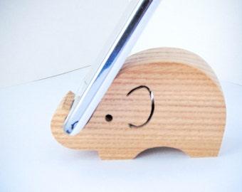 Wooden elephant phone holder \ tablet holder
