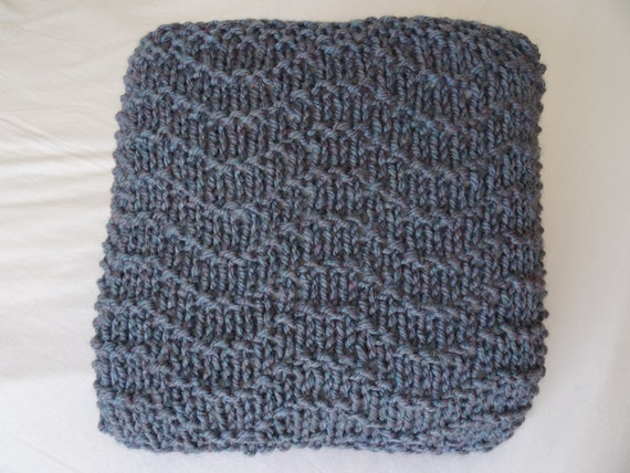 knitting pattern chunky cushion wave