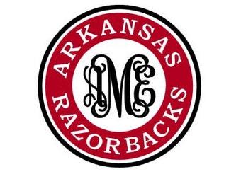 Arkansas Razorbacks Monogram instant download file for cutting machines - SVG DXF EPS ps studio3 studio (monogram font sold separately)