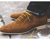 Brown men's leather shoes, made in France by hand / City shoes / Casual, smart, trendy, lifestyle, menswear