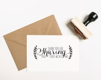 Thank You for Sharing Your Story With Me, Wedding Photographer Stamp, Photographer Stamp, Photos Enclosed, Packaging Stamp (SAFVS203 - S.2)