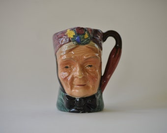 Vintage Sterling English Characters Granny Toby Jug