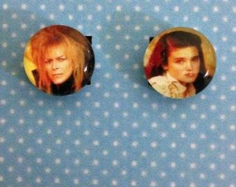 Jareth and Sarah post earrings