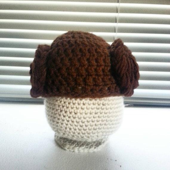 Crochet Pattern Princess Leia Hat : Crochet Princess Leia Hat by CrochetBOSS14 on Etsy