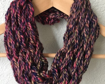 Arm Knit Scarf, Infinity Scarf, Fall/Winter Scarf
