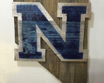 Nevada College Wolf Pack Rustic Wall Art