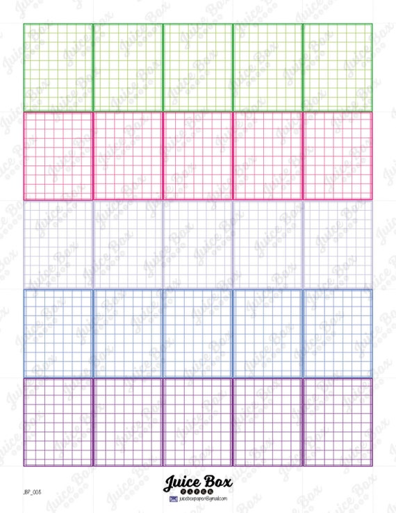 Items Similar To Printable Colored Graph Paper Planner Squares For