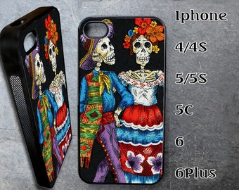 Skeleton Couple Case for iPhone Choose Your Case Size