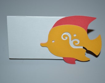 Under the Sea Place or Food Card/Fish Place Card/Fish Food Card/Food Card/Place Card/Under the Sea Fish Card/Fish/Place Card